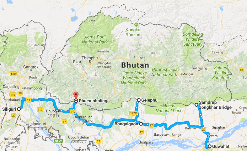 Entering Bhutan By Road From India