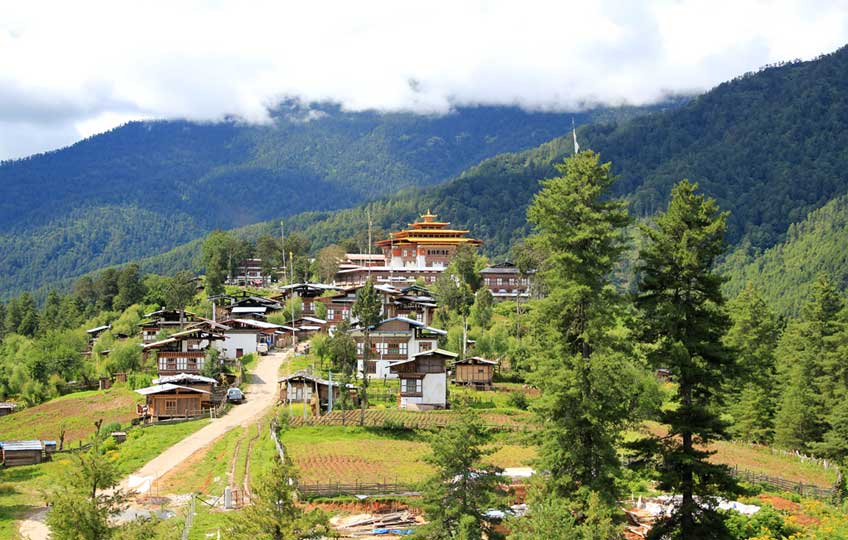 Gangtey Monastery in Phobjikha, Wangdu Phodrang