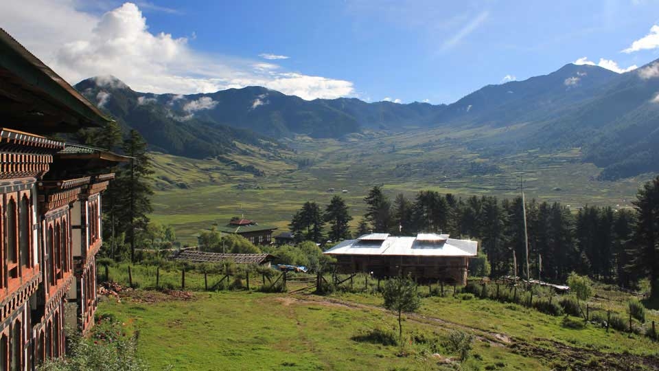The Phobjikha Valley in Wangdue Phodrang District