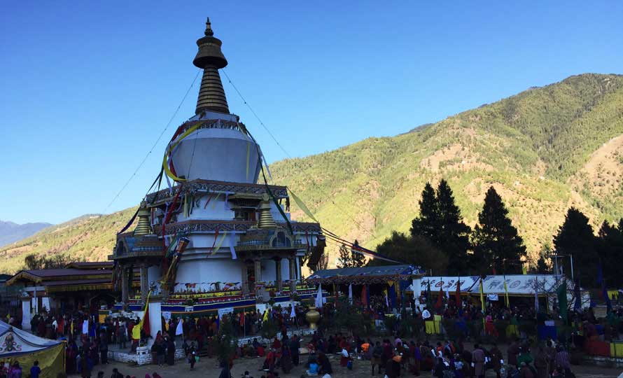 The National Memorial Chorten in Thimphu, Bhutan