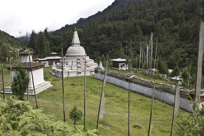 18th Chendebji Choeten, a replica of Swayambhunath Stupa of Kathmandu, Nepal