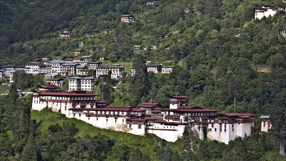 Trongsa Dzong in Central Bhutan