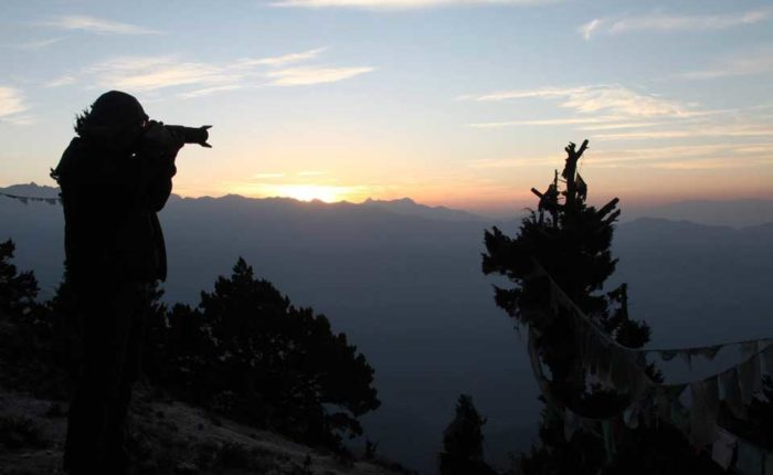 Sunrise at Bumdrak campsite, Paro, Bhutan