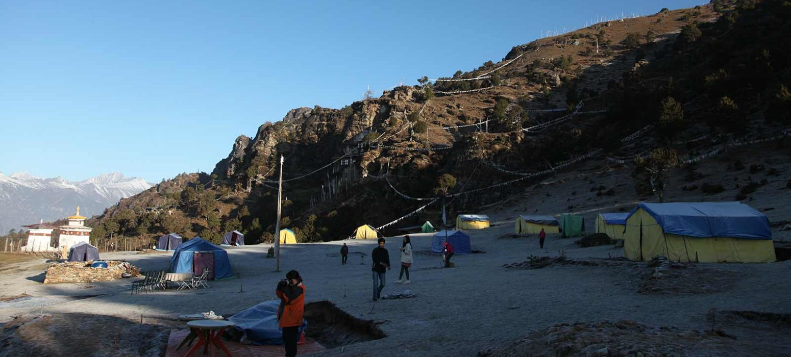 Bumdrak campsite at 3860m