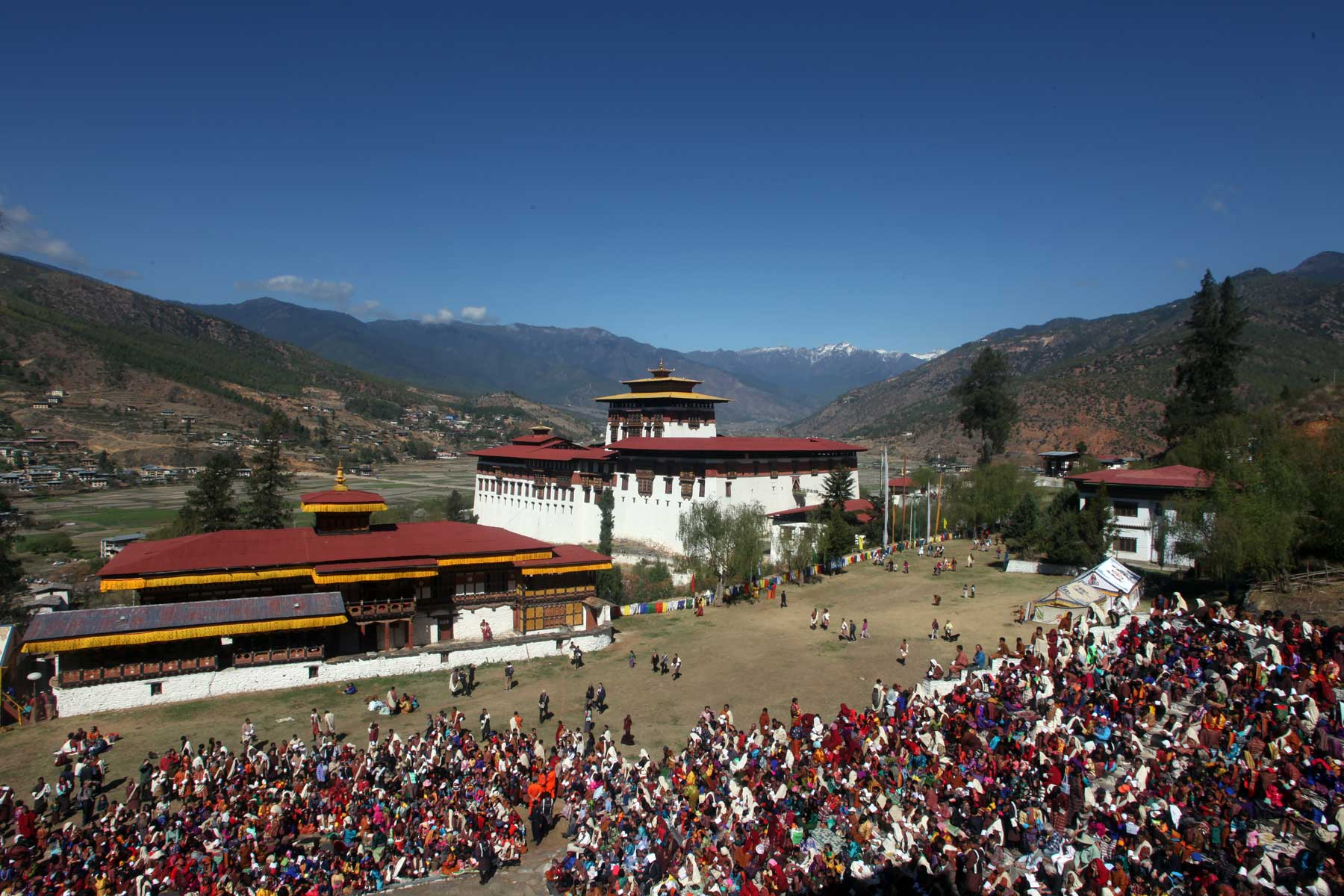 Photo of Paro Tshechu, annual festival held in Paro valley, Bhutan