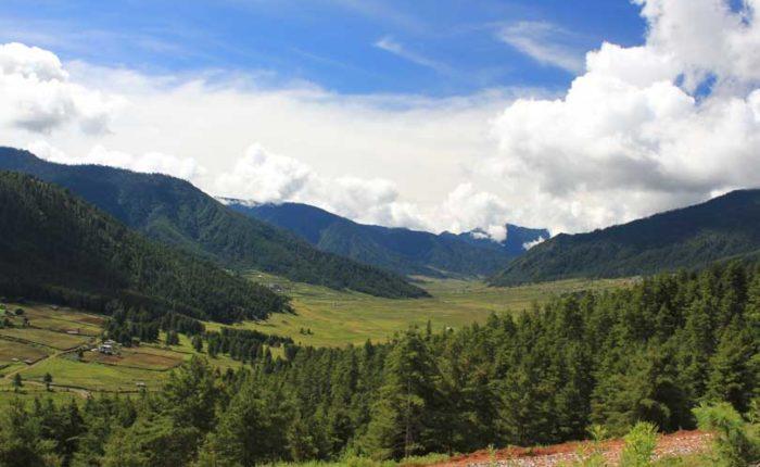 Phobjikha valley, Wangdue Phodrang, Bhutan