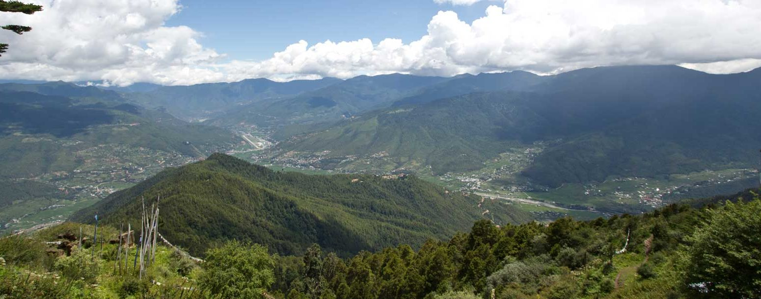 View of Paro see from Choechong Tse, en route to Bumdrak