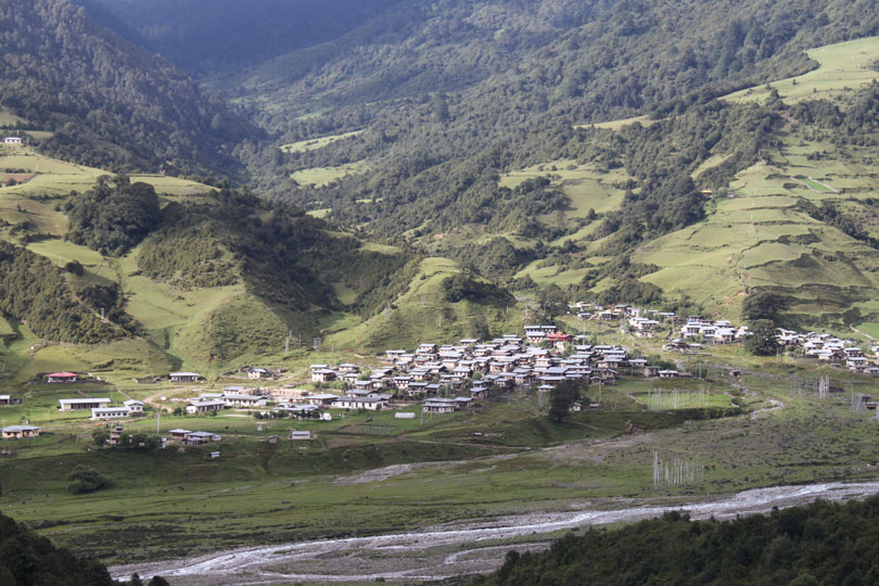The village of Sakteng, in Eastern Bhutan.