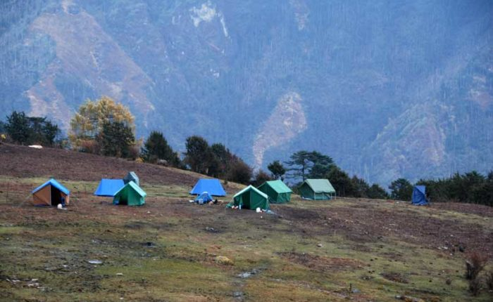 Campsite two at Jangchulakha, altitude 3,770m