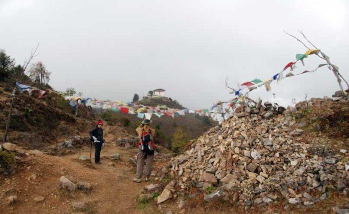 Below the Jili Dzong - first day of the Druk Path Trek