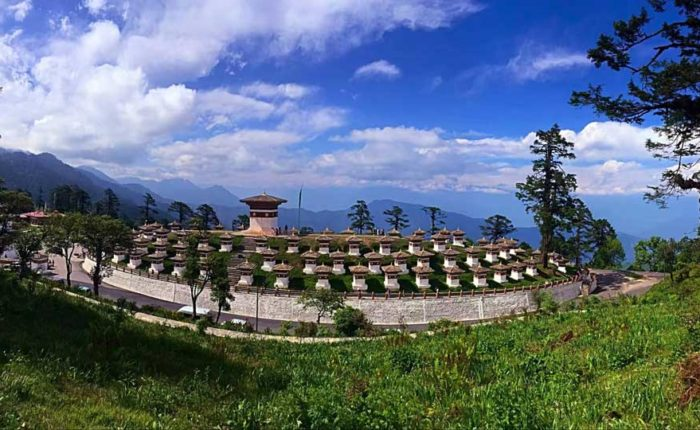 108 Druk Wangyal Choetens, Dochula Pass at an elevation of 3,300 meters, Thimphu, Bhutan