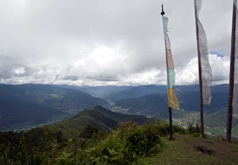 View of Paro valley from Choechongtse, Bumdrak Trek, Bhutan