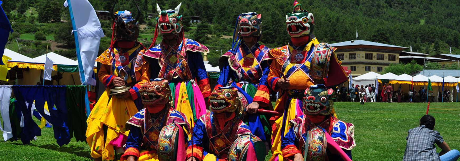 Mask Dancers of Haa Summer Festival, Bhutan