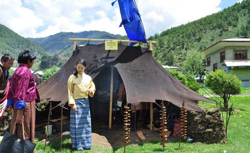 Traditional tent made of yak hair at Haa Summer Festival