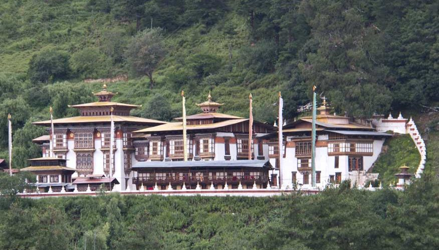 Kurje Lhakhang in Bumthang, Central Bhutan built in 1652.