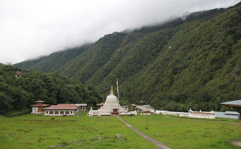 Choeten Kora in Trashi Yantse, Eastern Bhutan.