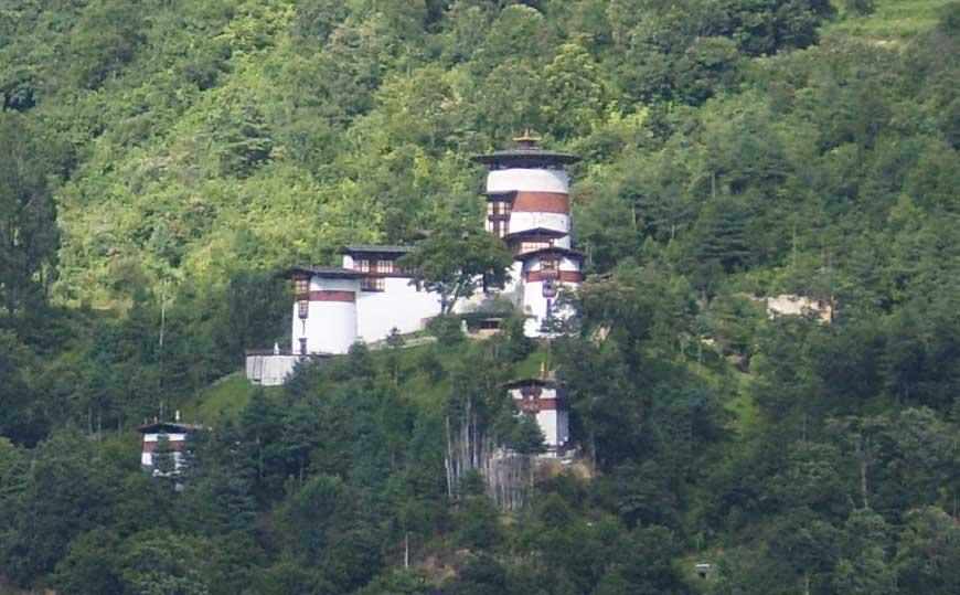 Trongsa Ta Dzong, a watch tower built in 1652.