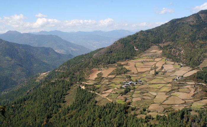 Genekha village, Thimphu. Starting point for 10 Days Dagala Thousand Lakes Trek. Trekking in Bhutan.