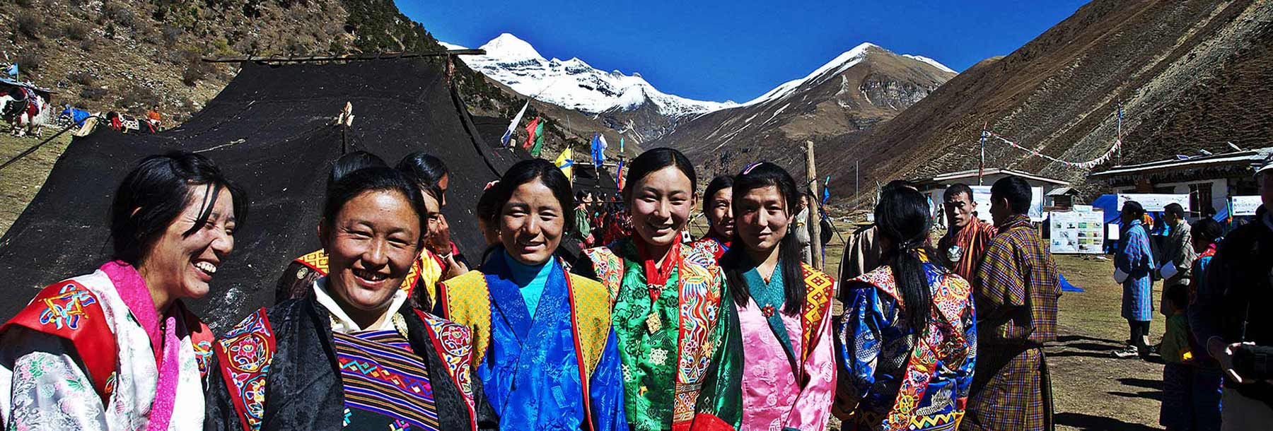 Women of Jomolhari during annual mountain festival