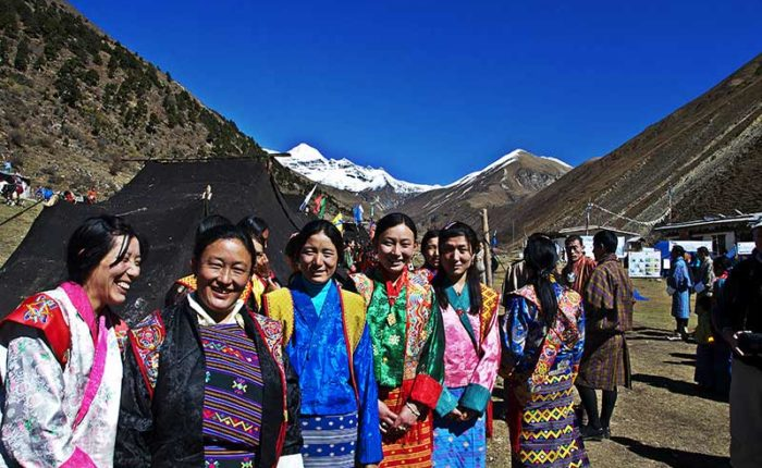 Women of Jomolhari semi-nomad community at the Jomolhari Festival