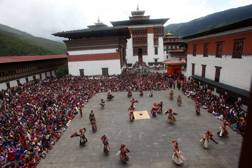 Thimphu Tsechu Festival. Festivals of Bhutan.