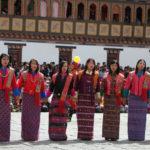 Thimphu Tsechu Festival, Bhutan Festival Tours, Folk Dancers of Bhutan.