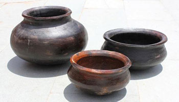 Earthenware pots used for cooking in Bhutan