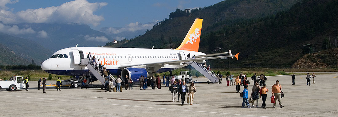 Drukair at Paro International Airport