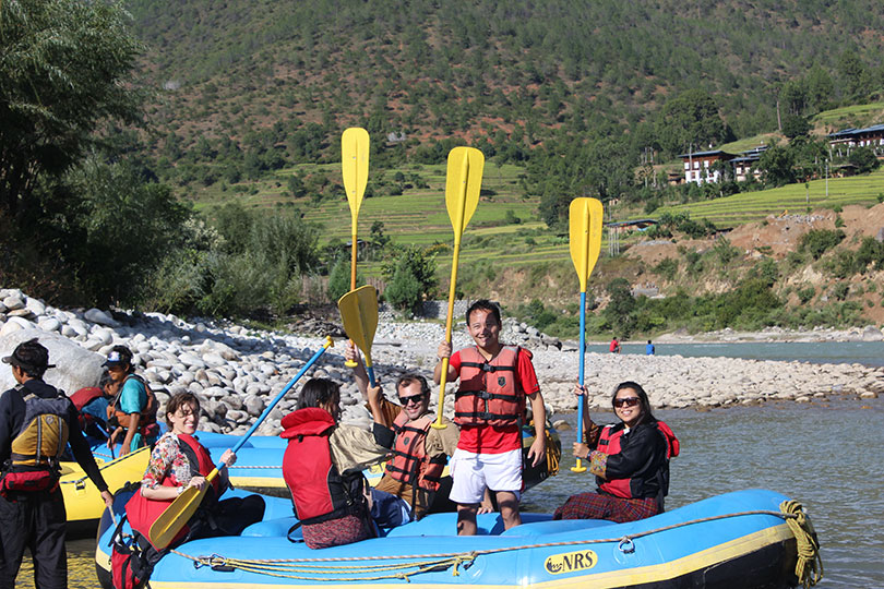 Rafting in Punakha, Bhutan