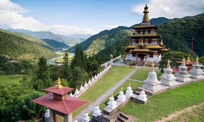 Khamsum Yuellay Namgyel Chorten in Punakha valley