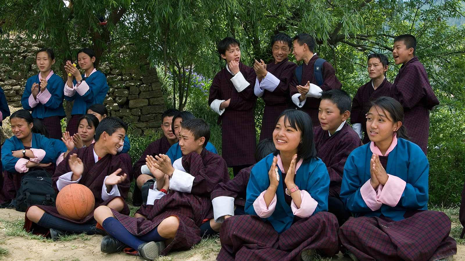 Students in their uniform