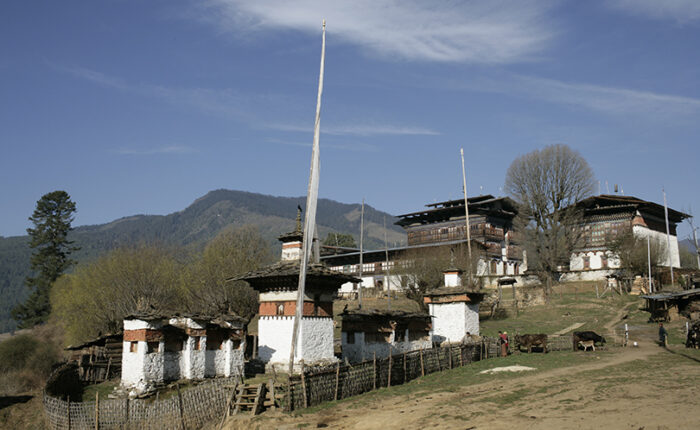 Ogyen Choling Manor in Tang Valley, Bumthang in central Bhutan.