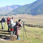 Observing birds in Phobjikha Valley