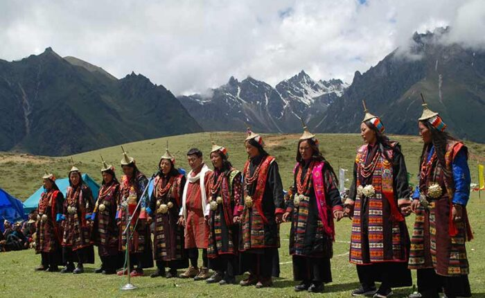 Highland people of Laya