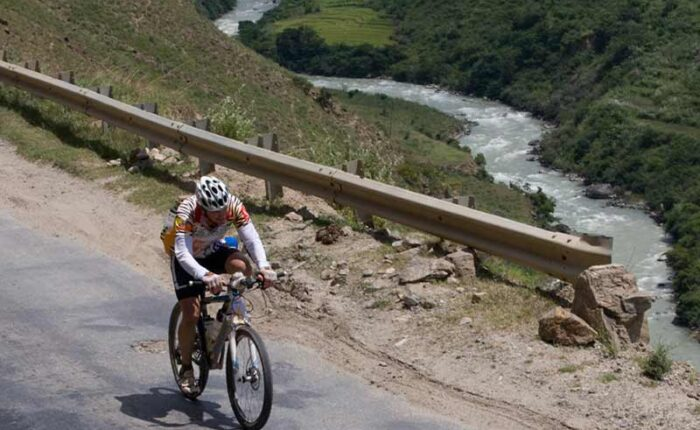 Tour of the Dragon Mountain Bike Race in Bhutan