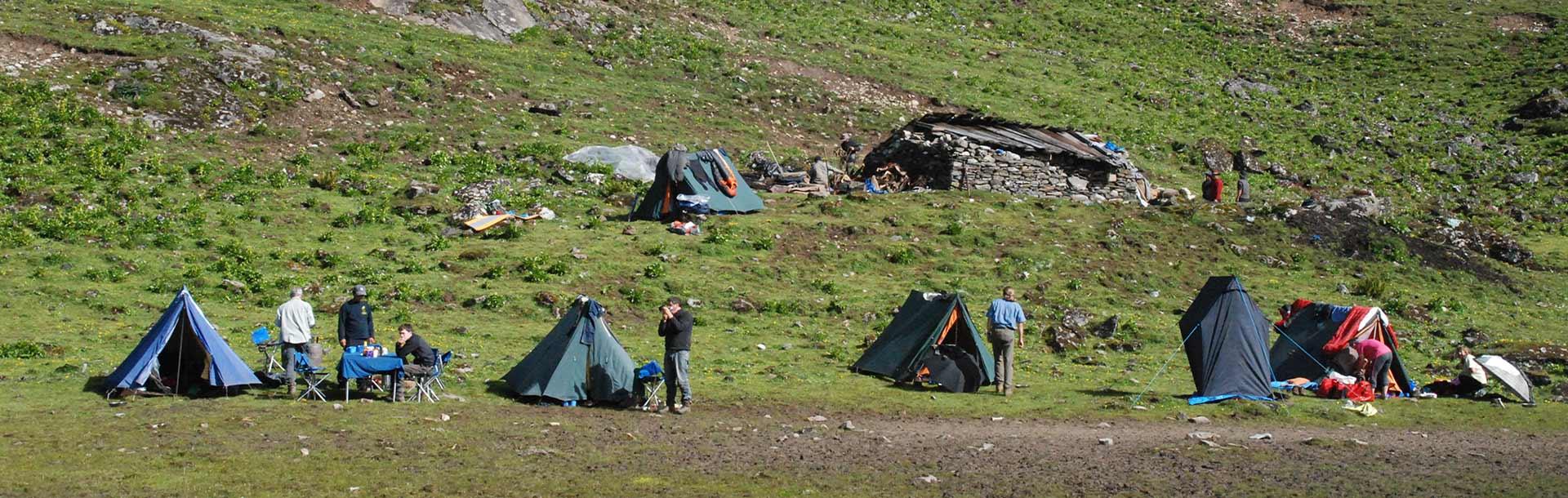 Trekking Campsite in Bhutan